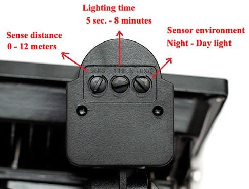Motion Sensor Outdoor Light Settings Adjust Motion